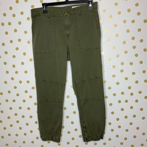 Pistola Army Green Mid Rise Skinny Cropped Pant 29